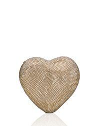 Judith Leiber Couture - Metallic Heart Crystal Clutch Bag - Lyst