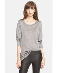 VINCE | Gray Long Sleeve Top | Lyst