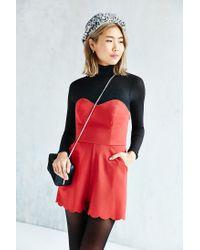 Kimchi Blue - Red Chloe Romper - Lyst