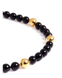 Kenneth Jay Lane - Black Long Bead Necklace - Lyst