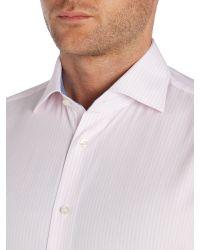 Tommy Hilfiger - Pink Slim Fit Stripe Shirt for Men - Lyst
