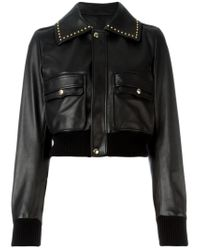 Givenchy - Black Cropped Studded Jacket - Lyst