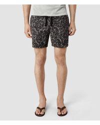AllSaints - Black Cater Swim Shorts for Men - Lyst
