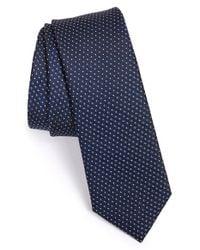 Calibrate - Blue Woven Silk Tie for Men - Lyst