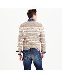 J.Crew | Natural Wool Fair Isle Sweater for Men | Lyst