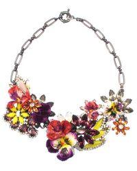 Elizabeth Cole | Multicolor Jardinet Necklace, Fuchsia | Lyst