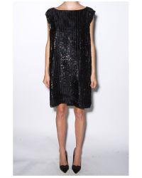 Zero + Maria Cornejo - Black Feather Stripe Irina Dress - Lyst