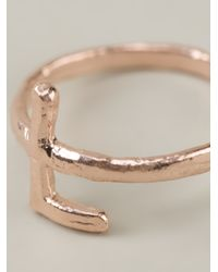 Bjorg | Metallic Alphabet L Ring | Lyst