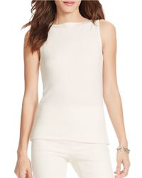 Lauren by Ralph Lauren | Natural Knit Top | Lyst