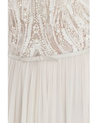 Elie Saab - White Beaded Top Dress - Lyst