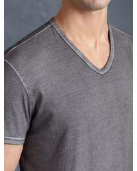 John Varvatos - Black Cotton V-neck for Men - Lyst