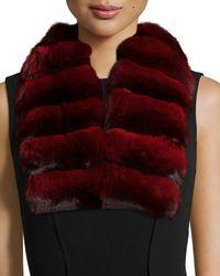 Gorski - Red Chinchilla Fur Collar - Lyst