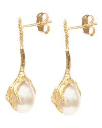 Wouters & Hendrix - White Crows Claws Pearl Earrings - Lyst