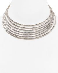 Robert Lee Morris | Metallic Multi Row Collar Necklace, 14"