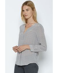 Joie | Gray Arrosa Silk Top | Lyst
