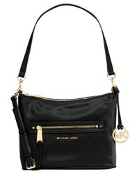 Michael Kors - Black Michael Rhea Zip Medium Convertible Shoulder Bag - Lyst