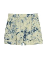 3.1 Phillip Lim - Blue Tie-Dye Stretch-Cotton Shorts - Lyst