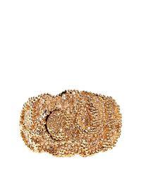 Chloé | Metallic Swarovski Crystal Pavé Bead Metal Cuff | Lyst