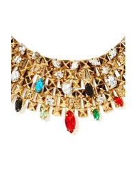 Nasty Gal | Metallic Royal Flush Collar Necklace | Lyst