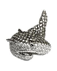 Noir Jewelry | Metallic Natalie The Shark Ring | Lyst