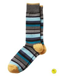 Banana Republic - Blue Factory Multi-stripe Sock - Lyst