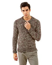 Guess | Gray Men's Marled Full-zip Sweater for Men | Lyst