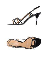 Sergio Rossi - Black Sandals - Lyst