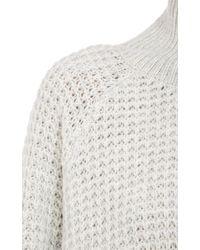 Won Hundred   White Waffle Knit Turtleneck Sweater   Lyst
