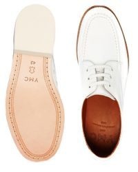 YMC | White Leather Bowling Shoes for Men | Lyst