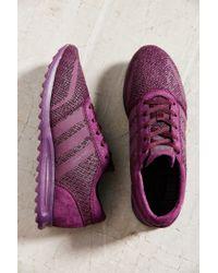 Adidas - Purple Originals Los Angeles Snake Sneaker - Lyst