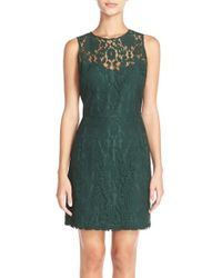 BB Dakota | Green 'gabby' Lace Sheath Dress | Lyst