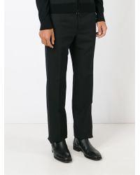 Lanvin - Black Straight Leg Trousers for Men - Lyst