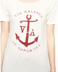 RVCA - White The Balance Of Opposites Anchor Tshirt - Lyst