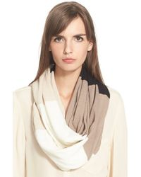 kate spade new york | Natural 'large Colorblock' Infinity Scarf | Lyst