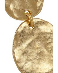 Kenneth Jay Lane Metallic Hammered Goldplated Earrings