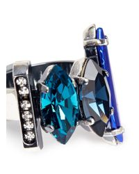 Iosselliani - Blue Decò Crystal Ring - Lyst