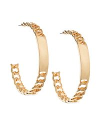 Guess - Metallic Id Link Hoop Earrings - Lyst
