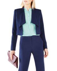 BCBGMAXAZRIA | Blue Franco Draped-collar Jacket | Lyst