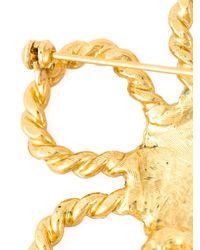Moschino   Metallic 'daisy' Brooch   Lyst