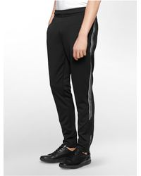 Calvin Klein | Black White Label Performance Track Warm-up Pants for Men | Lyst