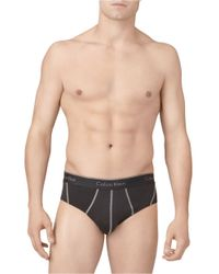 Calvin Klein | Black Mesh Briefs for Men | Lyst
