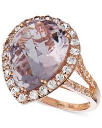 Le Vian - Purple Amethyst (8 Ct. T.w.) And White Sapphire (1-1/4 Ct. T.w.) Ring In 14k Rose Gold - Lyst