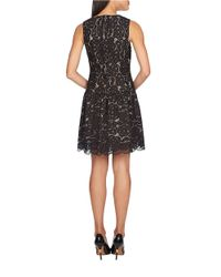 Cece by Cynthia Steffe | Black Vika Lace Dropped-waist Dress | Lyst