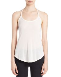 Free People | White Kendall Halter Top | Lyst