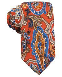 Countess Mara | Orange Fall Paisley Print Tie for Men | Lyst