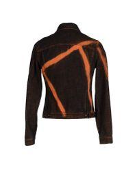 Just Cavalli - Black Denim Outerwear for Men - Lyst