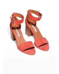 & Other Stories - Orange Almond Toe Sandals - Lyst