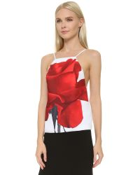 Karla Špetic - Red Window Visions Top - Rose Print - Lyst