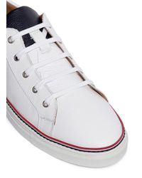 Thom Browne - White Pebble Leather Sneakers - Lyst
