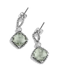 David Yurman | Metallic Cushion On Point Earrings With Prasiolite And Diamonds | Lyst